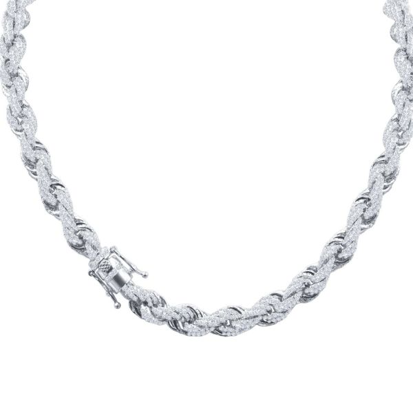Iced Out Bling Zirconia Rope Chain - CZ 10mm