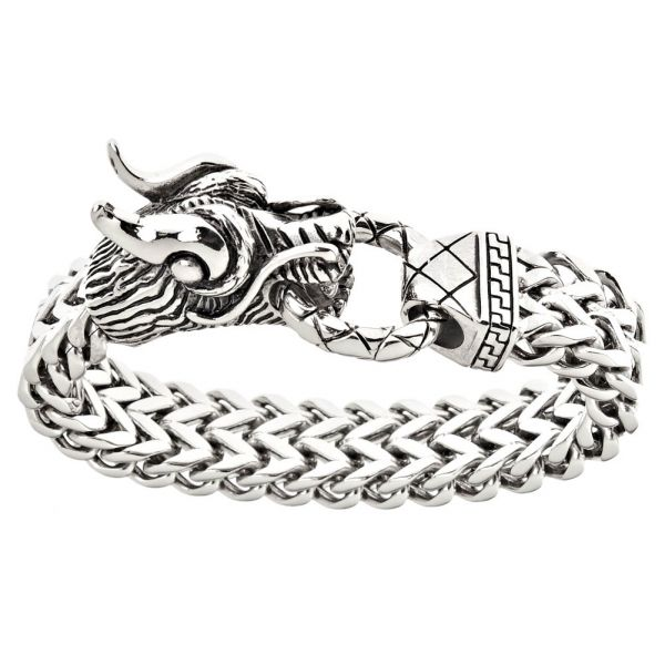Iced Out Bling Edelstahl Armband - DRAGON HEAD