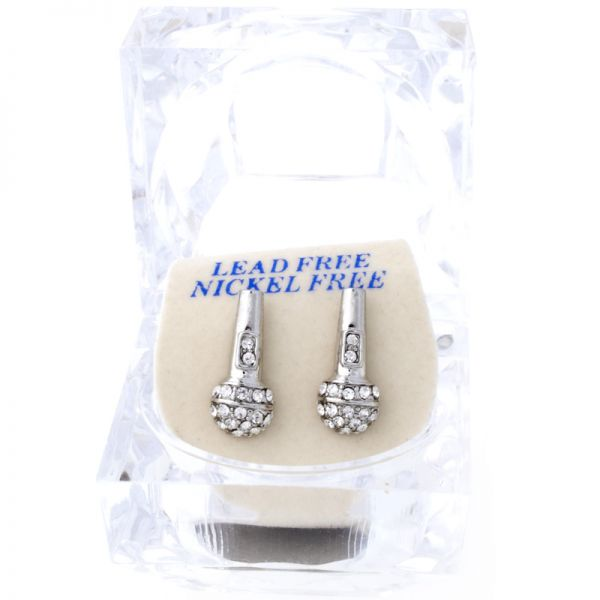 Iced Out Bling Ohrstecker Box - MIC