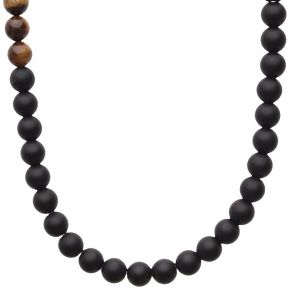 Wooden Beads Holz Fashion Stretch Kette - TIGER EYE 8mm