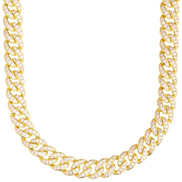 Premium Bling Sterling 925er Silber Miami Cuban Chain - 9mm