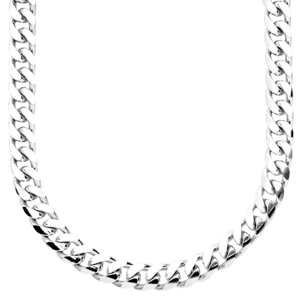 925 Sterling Silver Bling Chain - MIAMI CUBAN 7mm