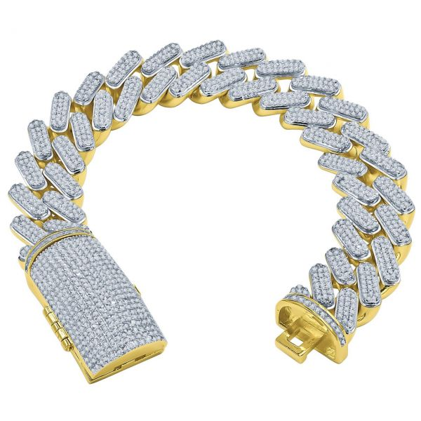 Iced Out Bling MIAMI CUBAN Panzerkette Armband - NOBBY 17mm