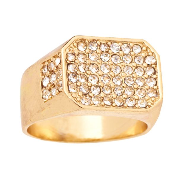 Iced Out Bling Hip Hop Designer Ring - RAPPER gold