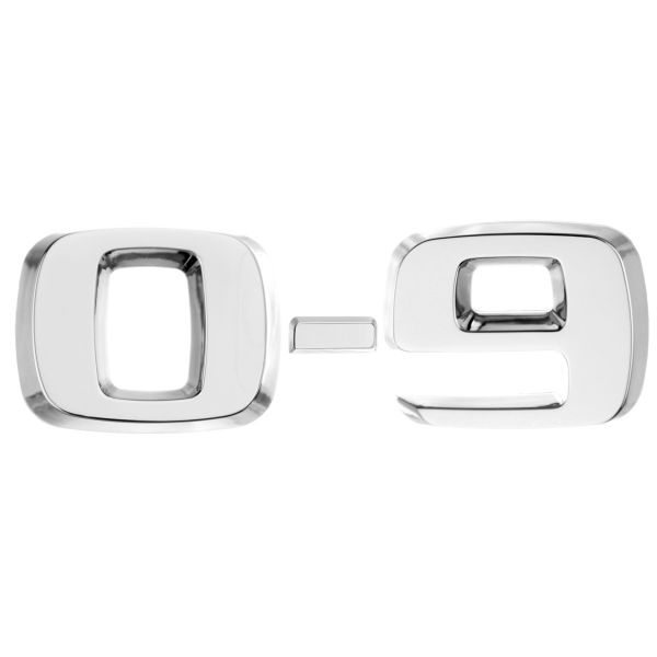 Luxbling Car Chrome 3D Number - silver