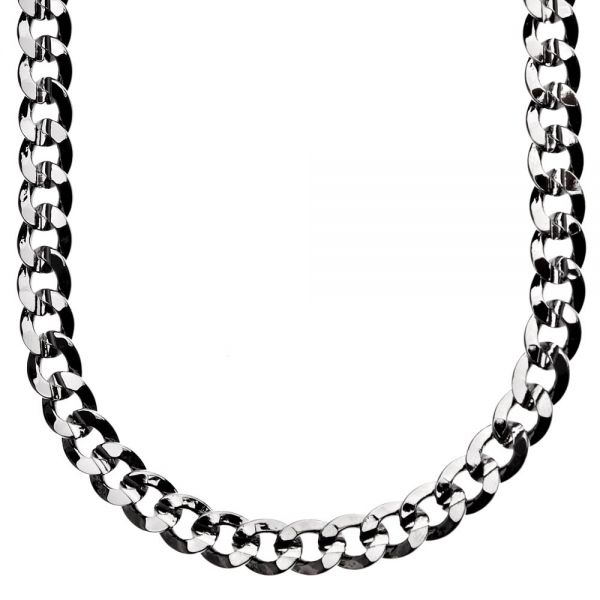 Iced Out Bling Hip Hop CUBAN CURB CHAIN - 8mm black