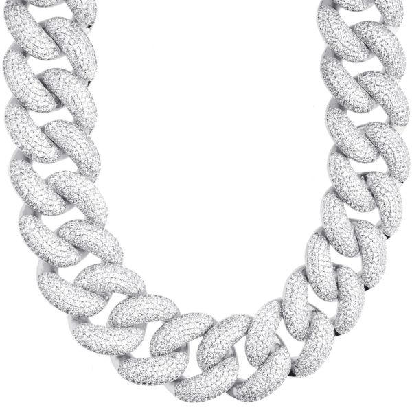 Iced Out Bling Zirconia Chain - Miami 2.0 Cuban 25mm