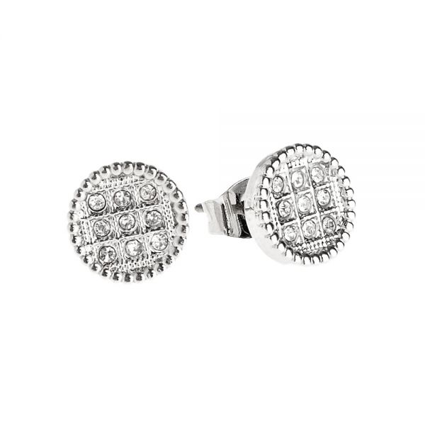 Iced Out Bling Ohrstecker Box - ROUND 10mm