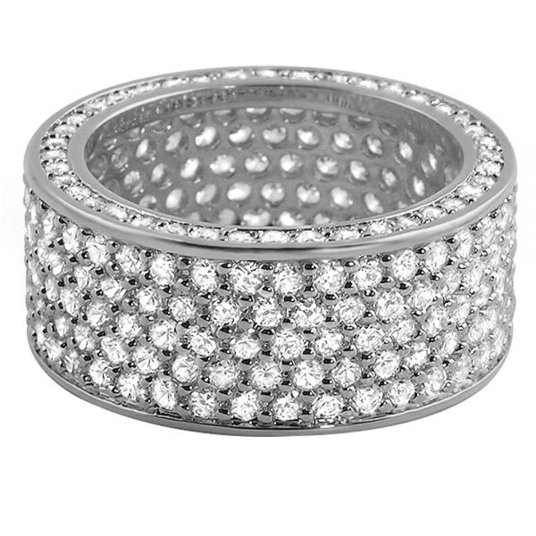 Iced Out Bling Micro Pave Ring - 360 ETERNITY silber
