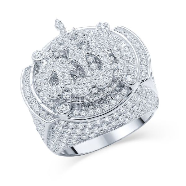 Sterling 925er Silber Micro Pave Ring - ALLAH HILAL