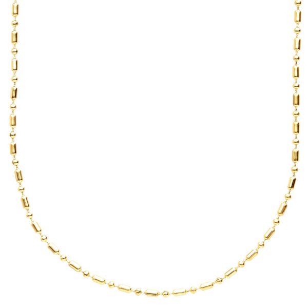 Edelstahl Slim 3mm Kugelkette - gold