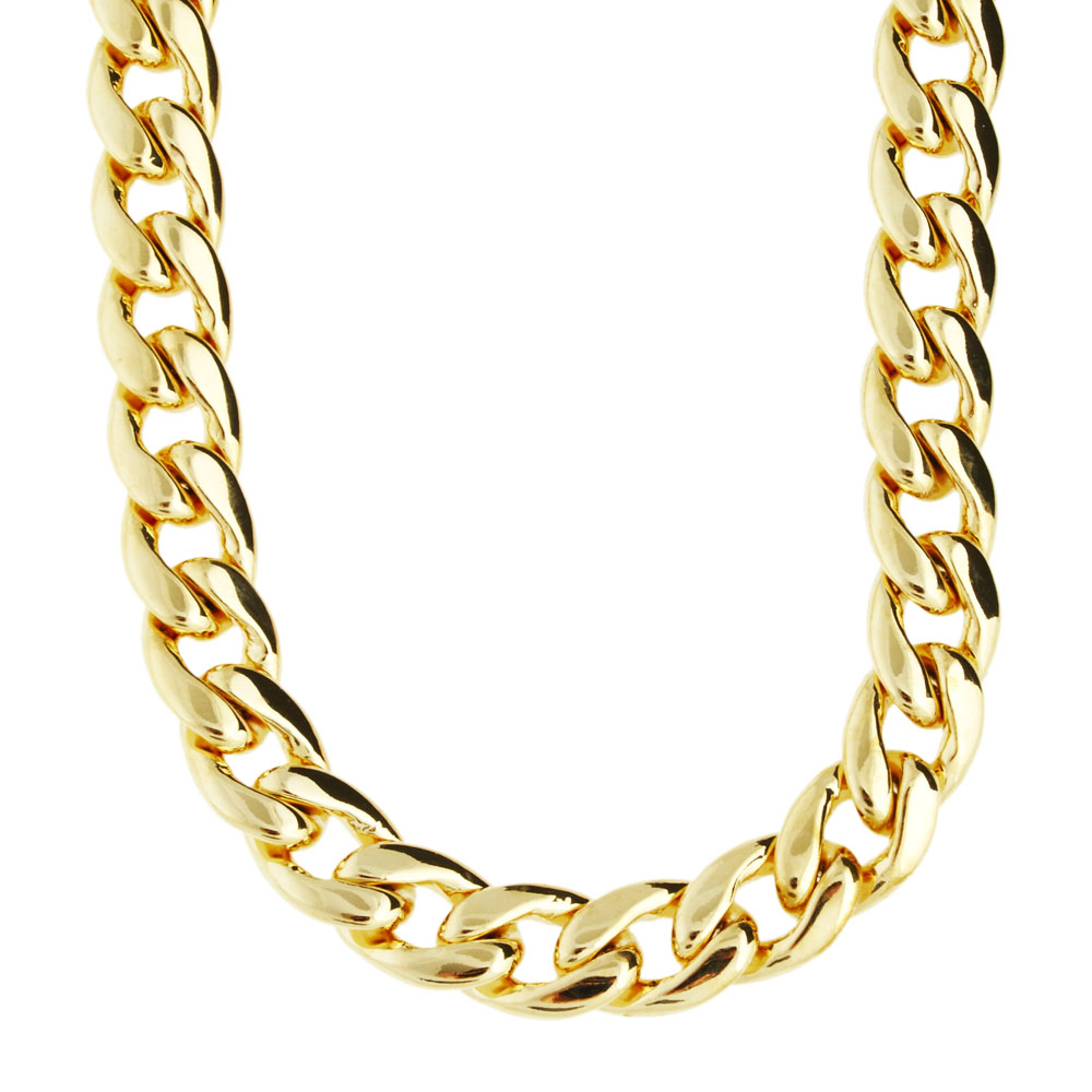 Iced Out Bling CMD CUBAN CHAIN - 10mm gold ... af2f181e9092