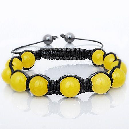 Unisex Marcrame Armband - YELLOW STONE