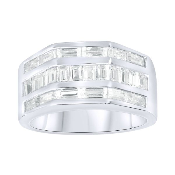 Sterling 925er Silber Pave Ring - HEXAGO