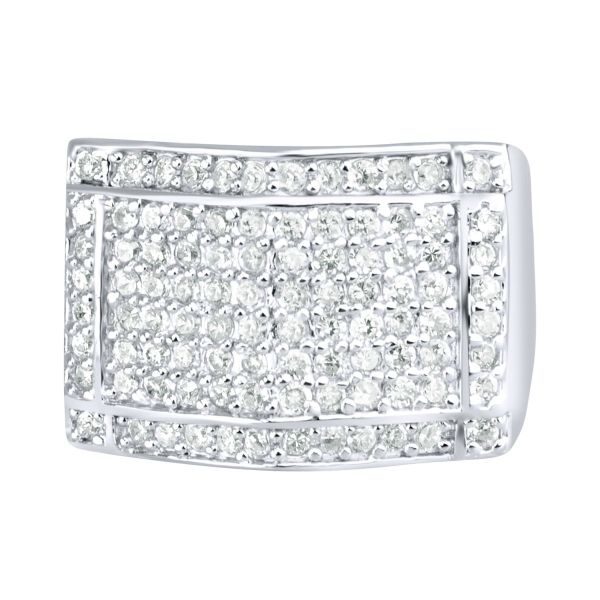 Sterling 925er Silber Pave Ring - PEAK