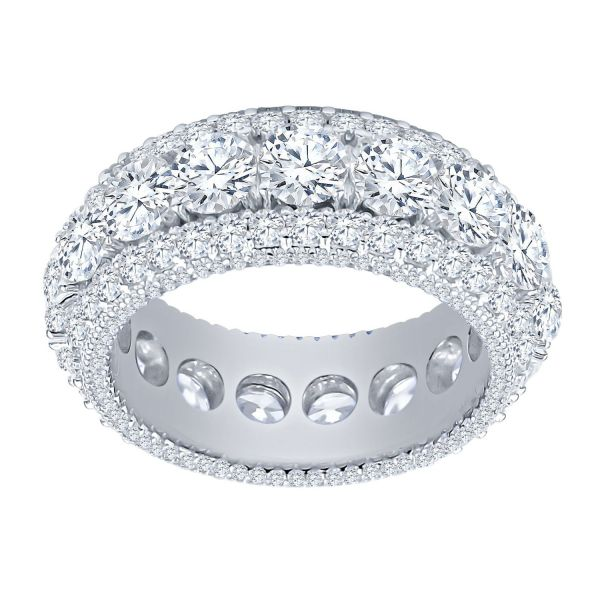 Sterling 925er Silber Micro Pave Ring - SPECTR