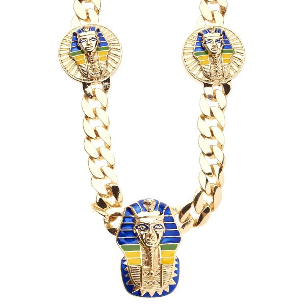 Iced Out Bling Hip Hop CUBAN Kette - PHARAOH 15mm gold