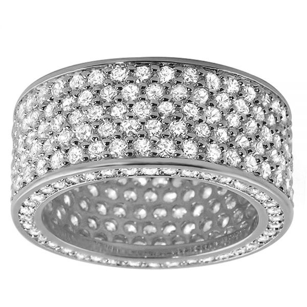 Iced Out Bling Micro Pave Ring - 360 ETERNITY Zirkonia