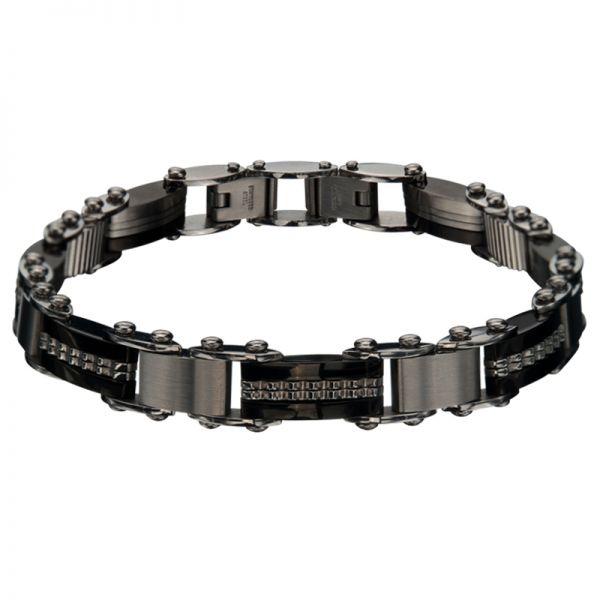Zweiseitiges Edelstahl Armband für Herren