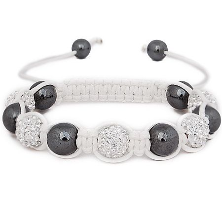 Iced Out Unisex Armband - STRONG Beads weiß