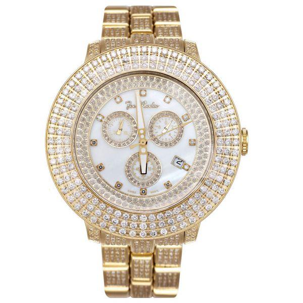 Joe Rodeo Diamant Herren Uhr - PILOT gold 11 ctw