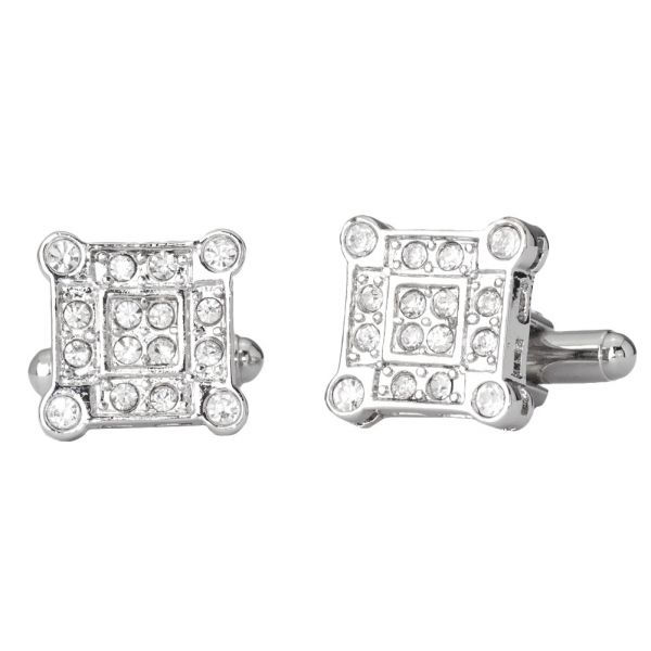 Iced Out Hip Hip Cuff Links - Corner Bling