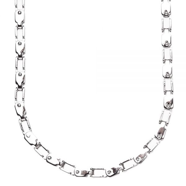 Iced Out Stainless Steel INDUSTRY Chain - 4mm silver