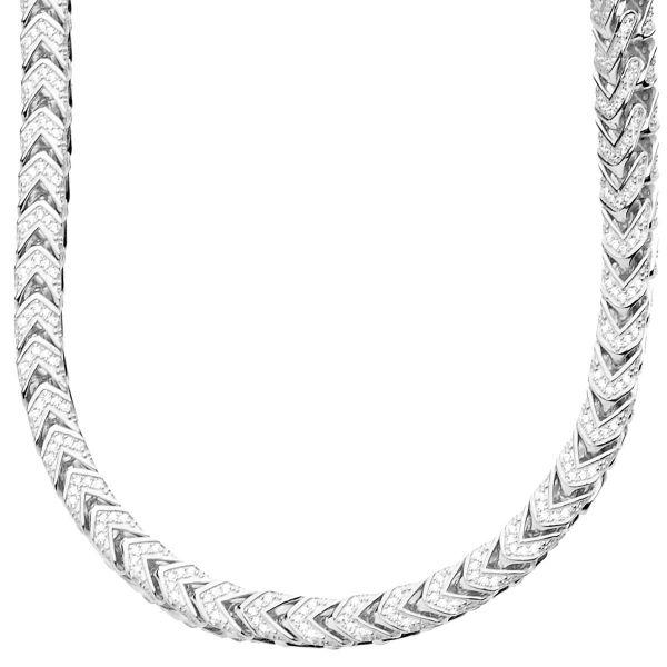 Premium Bling - Sterling 925er Silber FRANCO Kette - 5x5mm