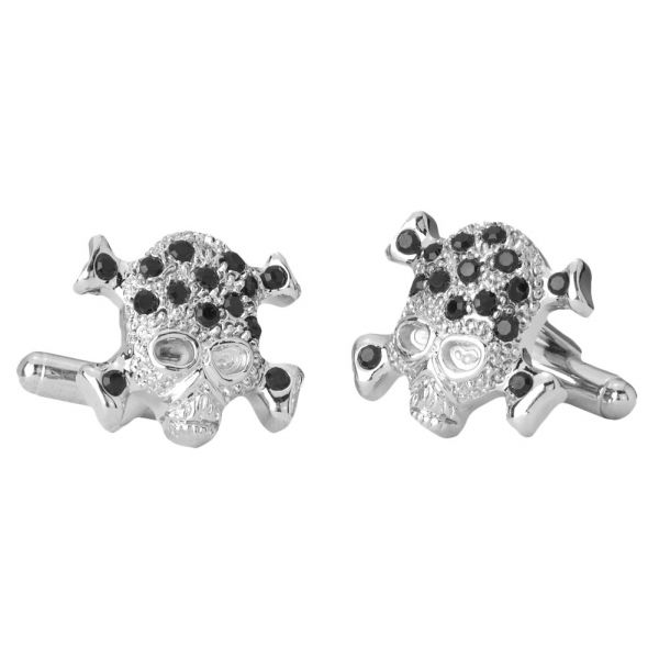 Iced Out Hip Hip Cuff Links - Skull Bling