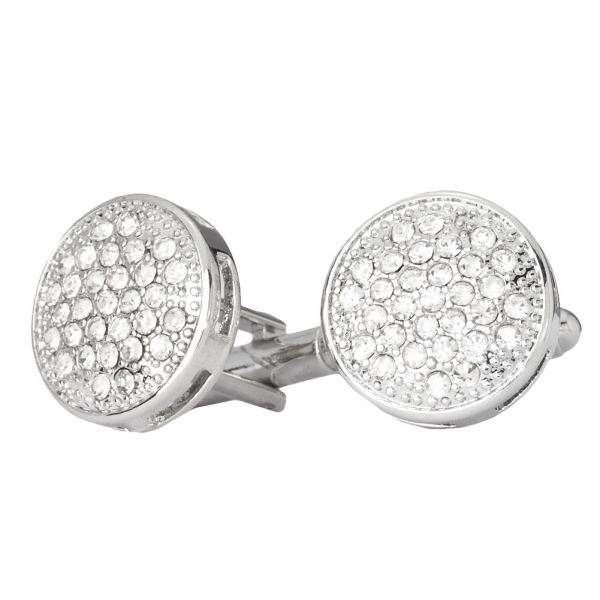 Iced Out Hip Hip Cuff Links - Round Bling