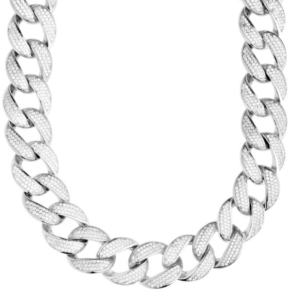 Premium Bling Sterling 925er Silber Miami Cuban Chain - 16mm