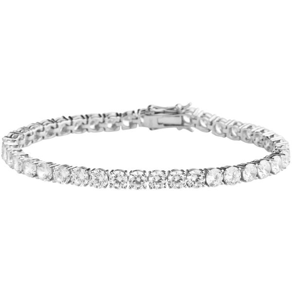 Premium Bling 925 Sterling Silber Armband - TENNIS 5mm