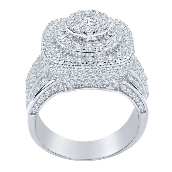 Sterling 925er Silber Micro Pave Ring - DOME gold