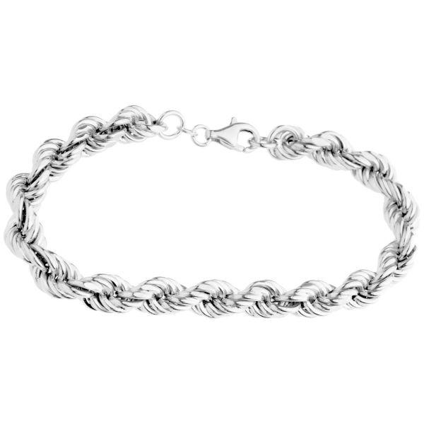 Sterling 925er Silber Kordel Armband - HOLLOW ROPE 8mm