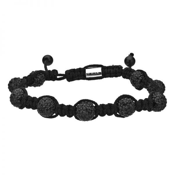 DISCO BALL Edelstahl Armband - ALL BLACK