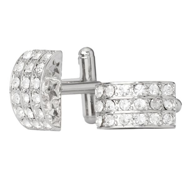 Iced Out Hip Hip Cuff Links - Moon Bling