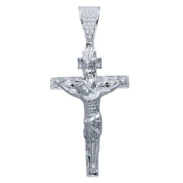 925 Sterling Silber 3D Anhänger - DIEFORM Jesus Kreuz