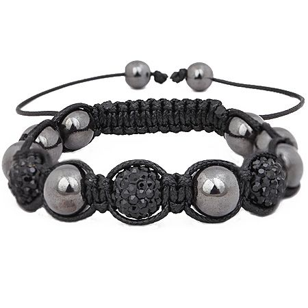 Iced Out Unisex Armband - Disco Ball THREE black
