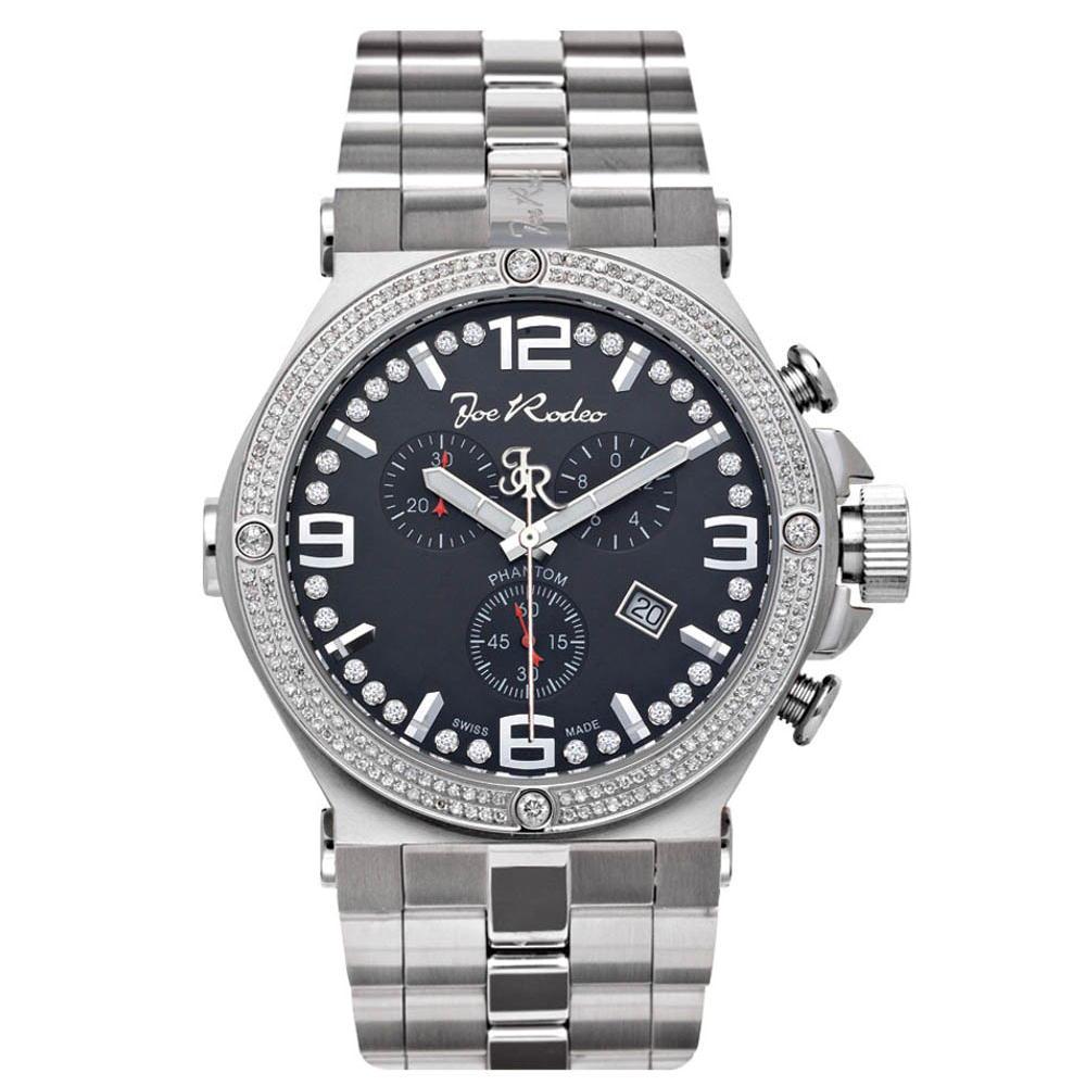 Joe Rodeo Diamant Herren Uhr Phantom Silber 2 25 Ctw Herrenuhren