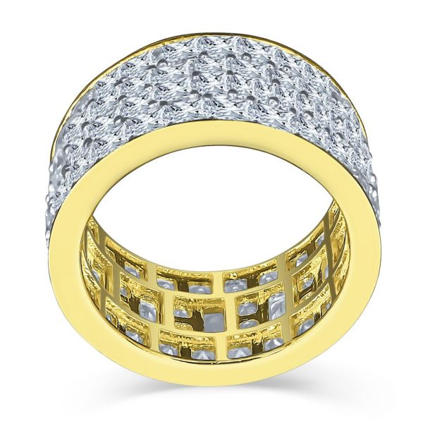 Sterling 925er Silber Micro Pave Ring - INVISIBLE ROWS