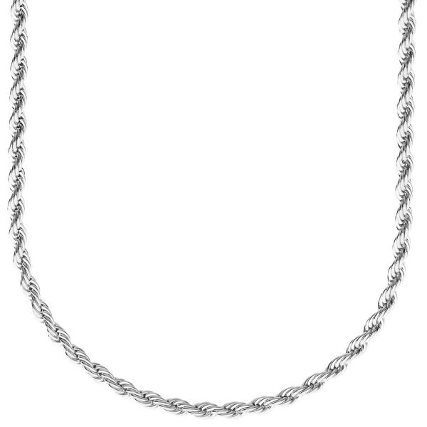 Fashion Unisex Rope Kordelkette - 3mm silber