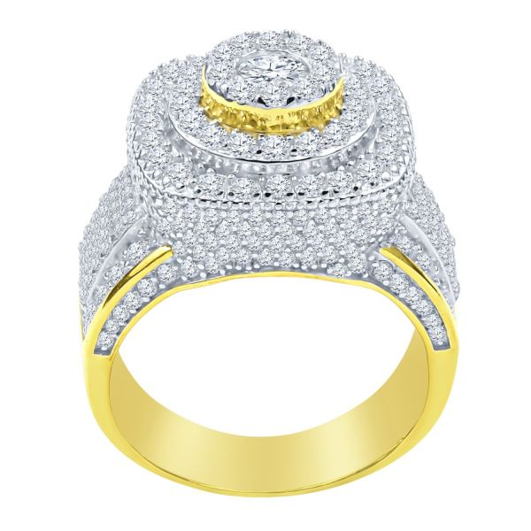 Sterling 925er Silber Micro Pave Ring - DOME