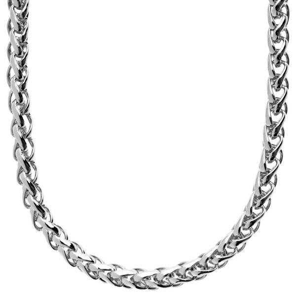 Iced Out Solid Hip Hop Chain - WEAVED 6mm silber