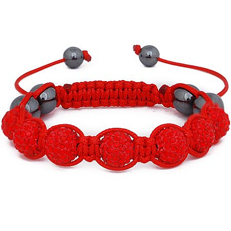 Iced Out Unisex Armband - Beads rot