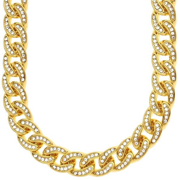 Iced Out Hip Hop Bling CZ Panzerkette - 12mm gold