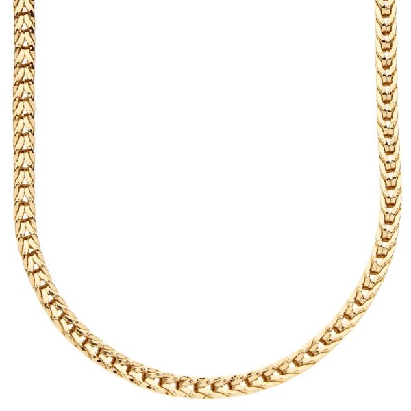 Iced Out Bling Designer FRANCO CHAIN - 4mm gold
