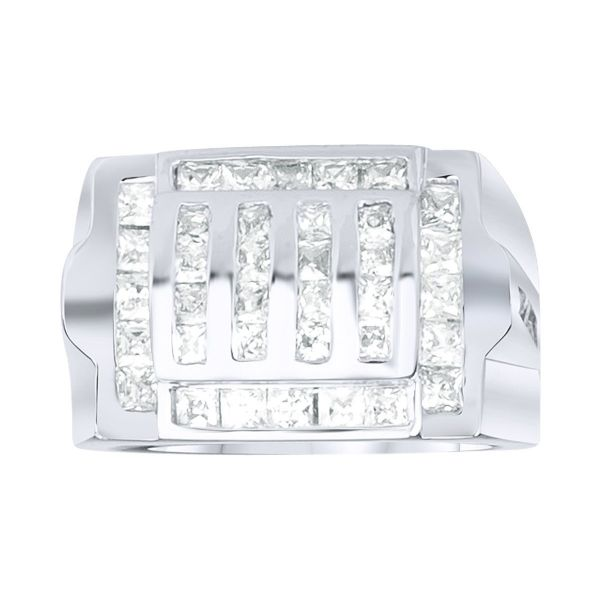 Sterling 925er Silber Pave Ring - GRILL