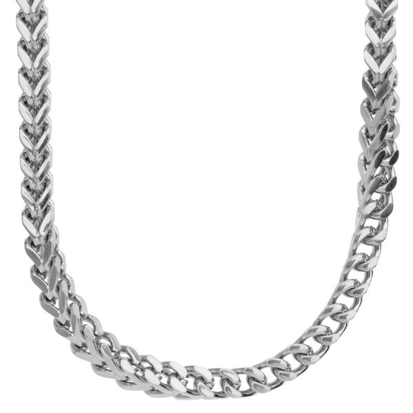 Iced Out Stainless Steel BOXED CZ Chain - 6x6mm silver