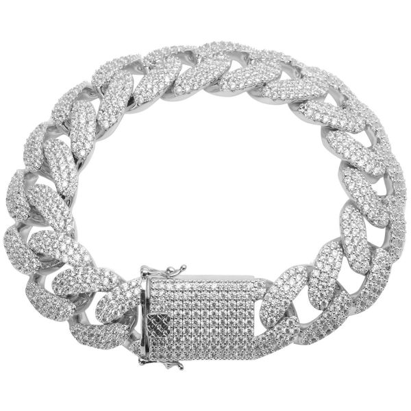 Iced Out Bling CUBAN Panzerkette Armband - 18mm