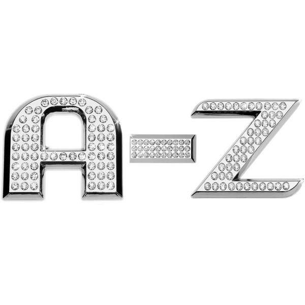 Luxbling Auto Chrom 3D Buchstabe mit Swarovski Crystals A-Z